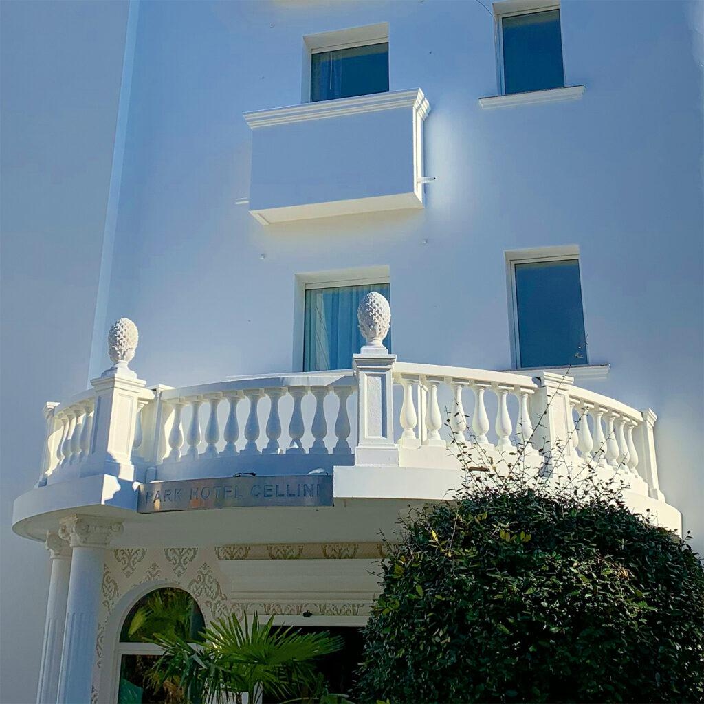Entrata del Park Hotel Cellini